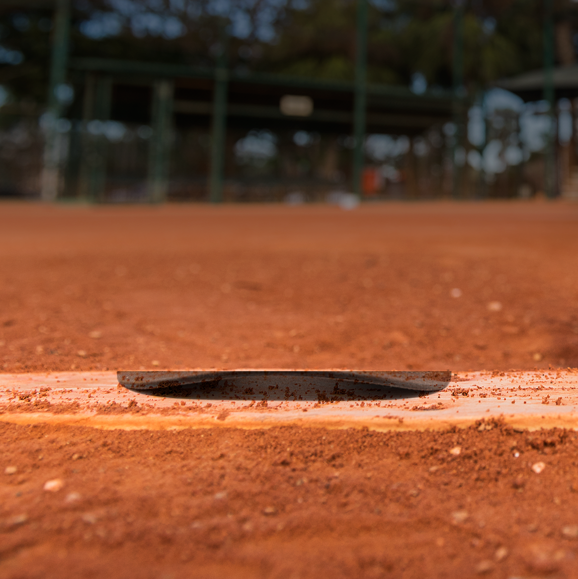 A background of a baseball diamond