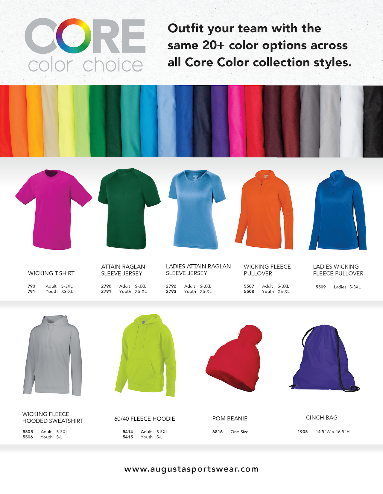 Core Colors Collection flyer