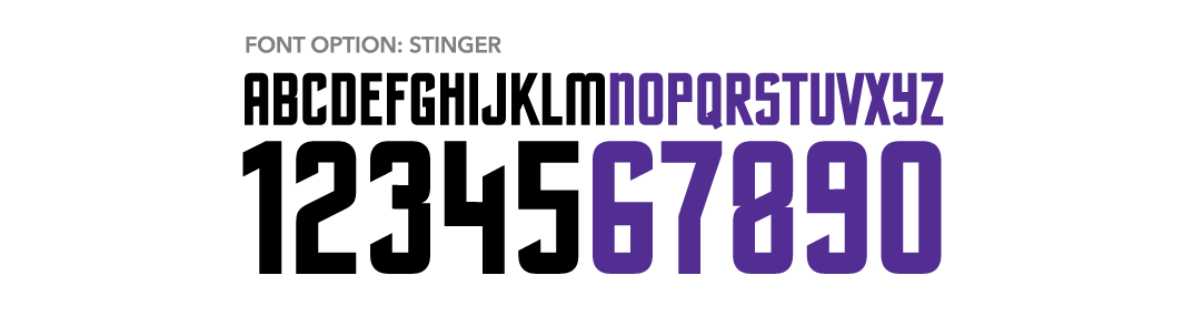 Russell Athletic Blitz Football - Stinger Font