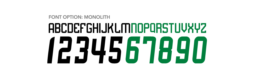 Russell Athletic Blitz Football - monolith Font