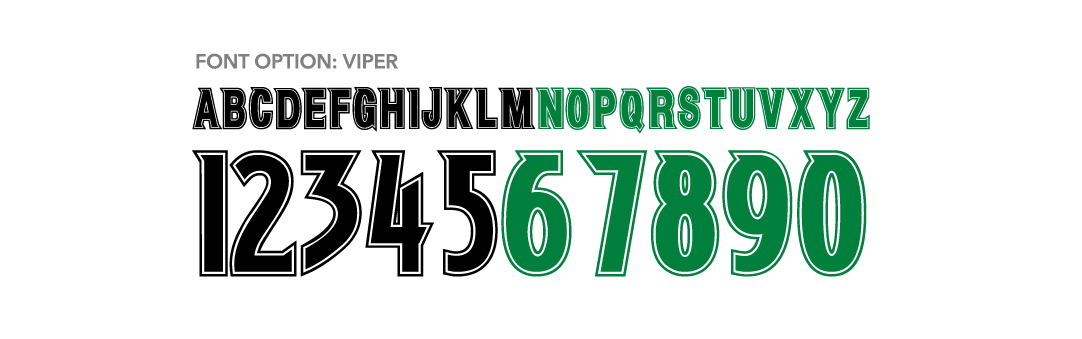 Russell Athletic Blitz Football - Viper Font