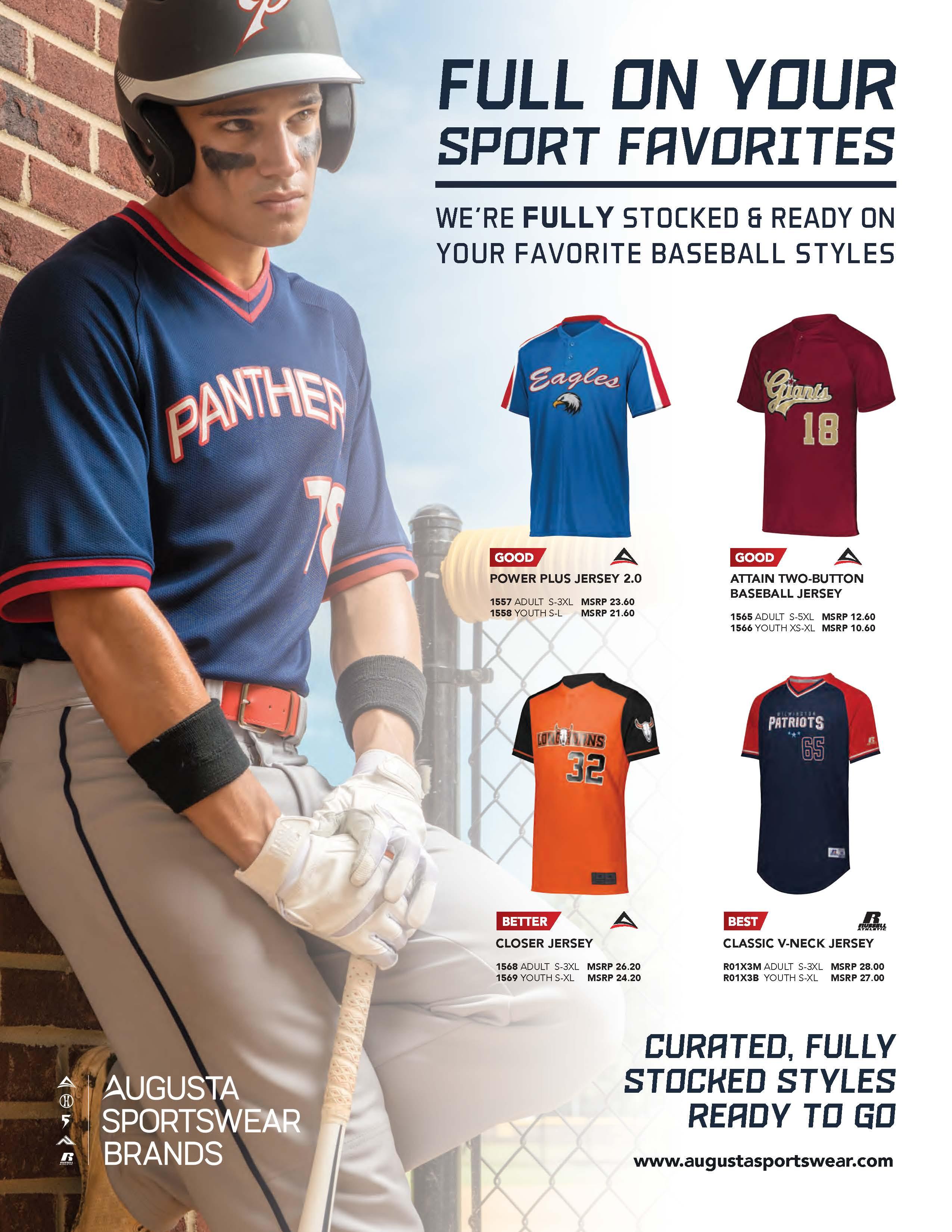 View program flyer for Full on Sports - Baseball