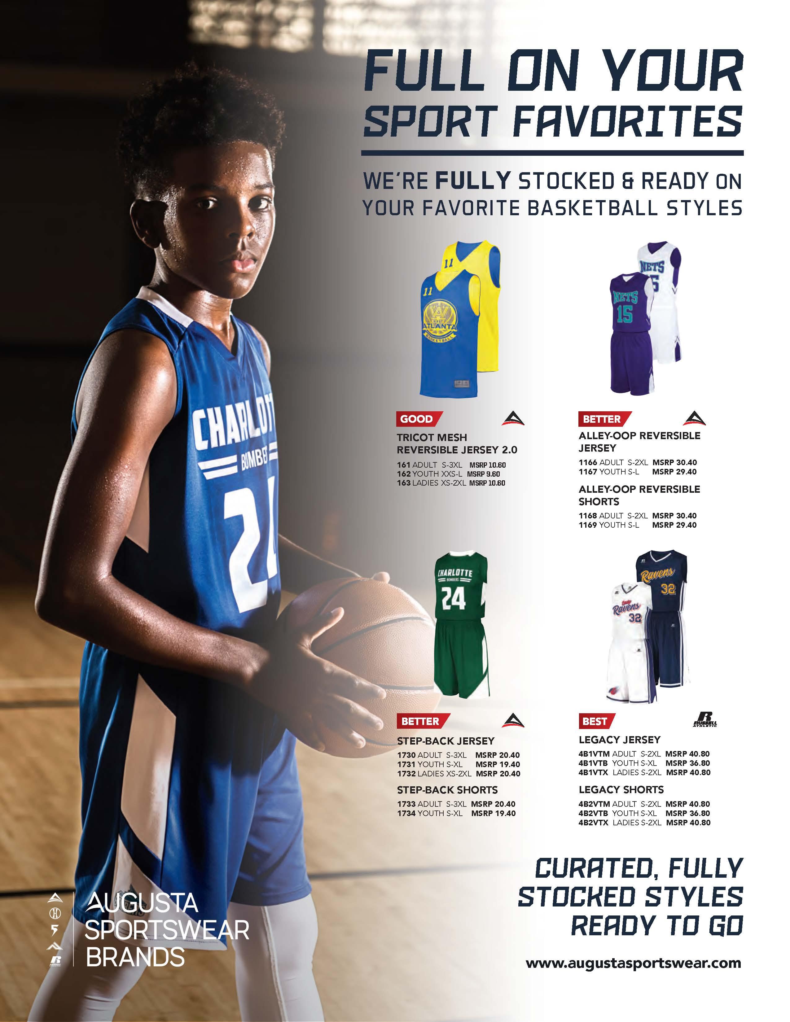 View program flyer for Full on Sports - Basketball