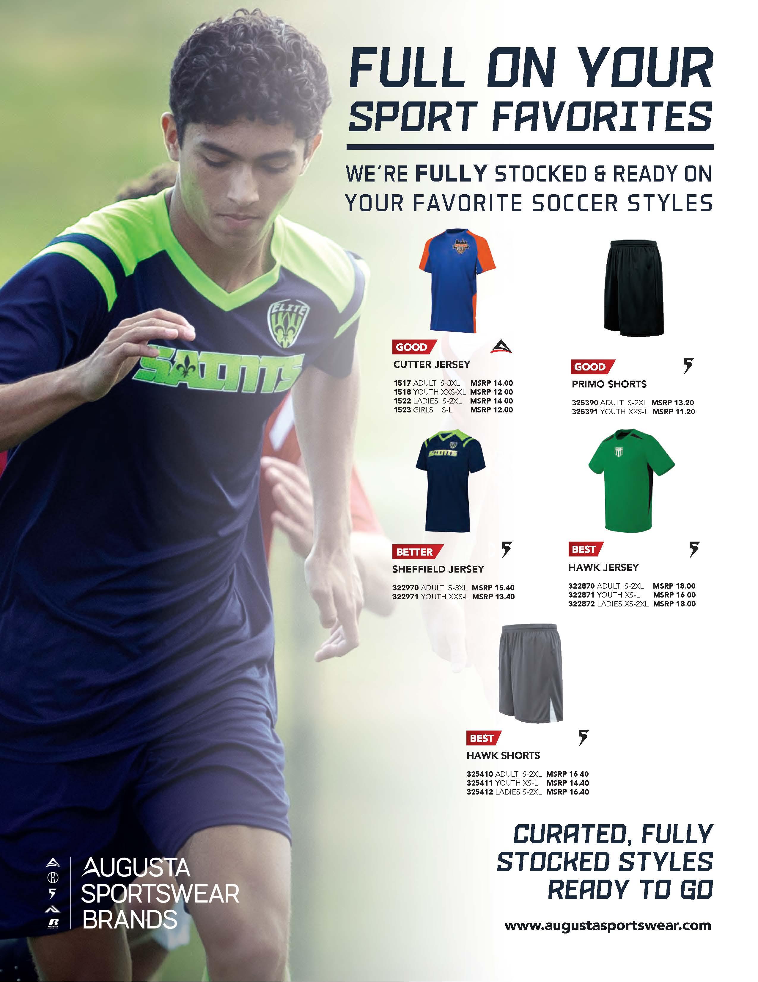 View program flyer for Full on Sports - Soccer