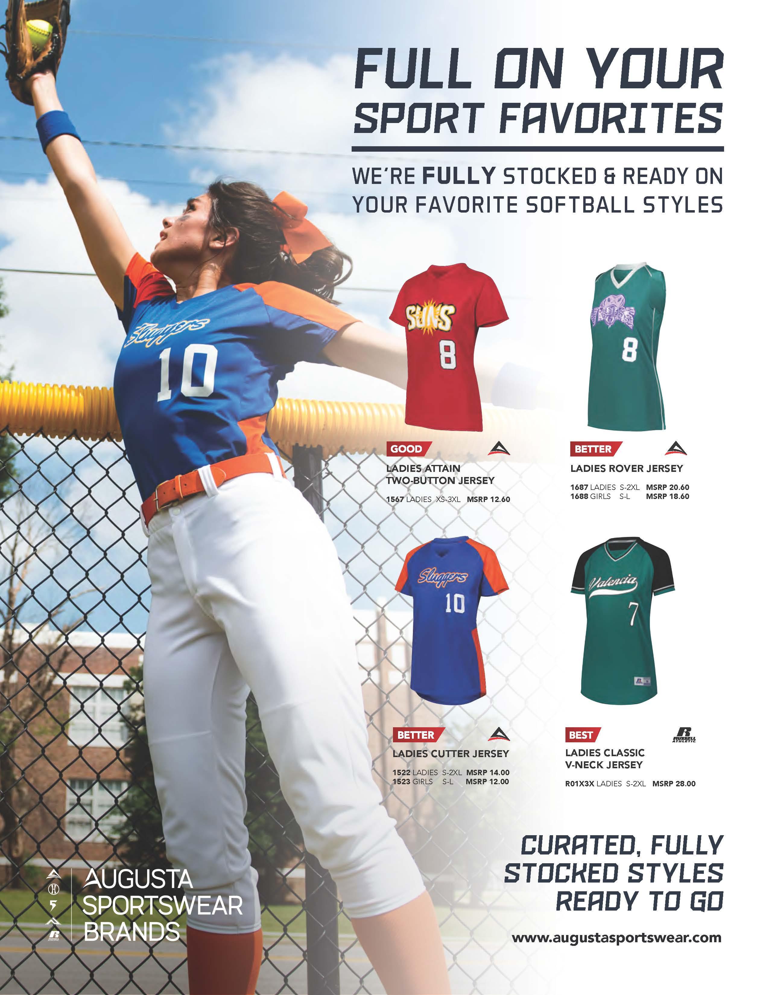 View program flyer for Full on Sports - Softball