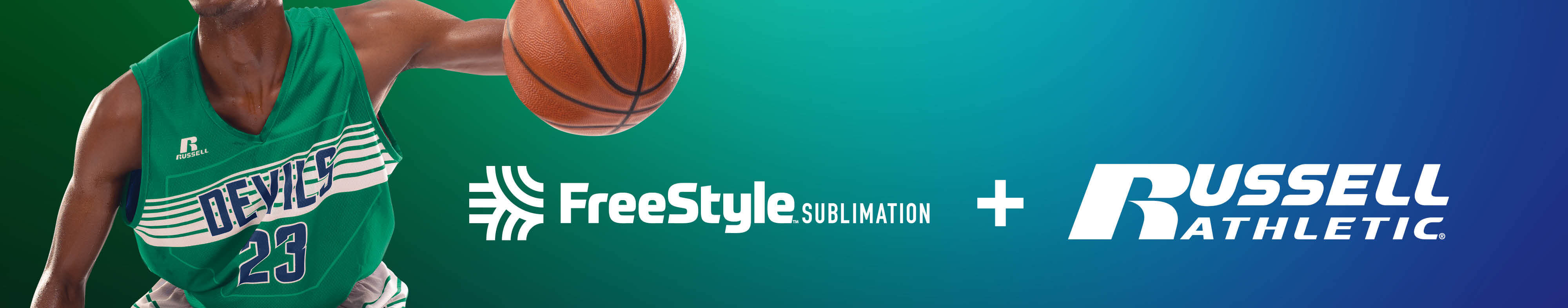 Russell Athletic Sublimation now on FreeStyle builder.