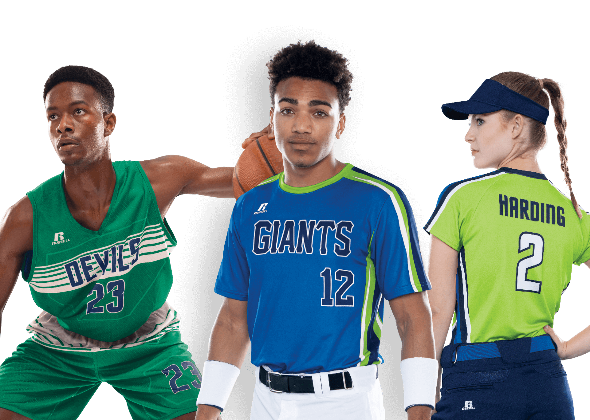 Russell Athletic sublimation models