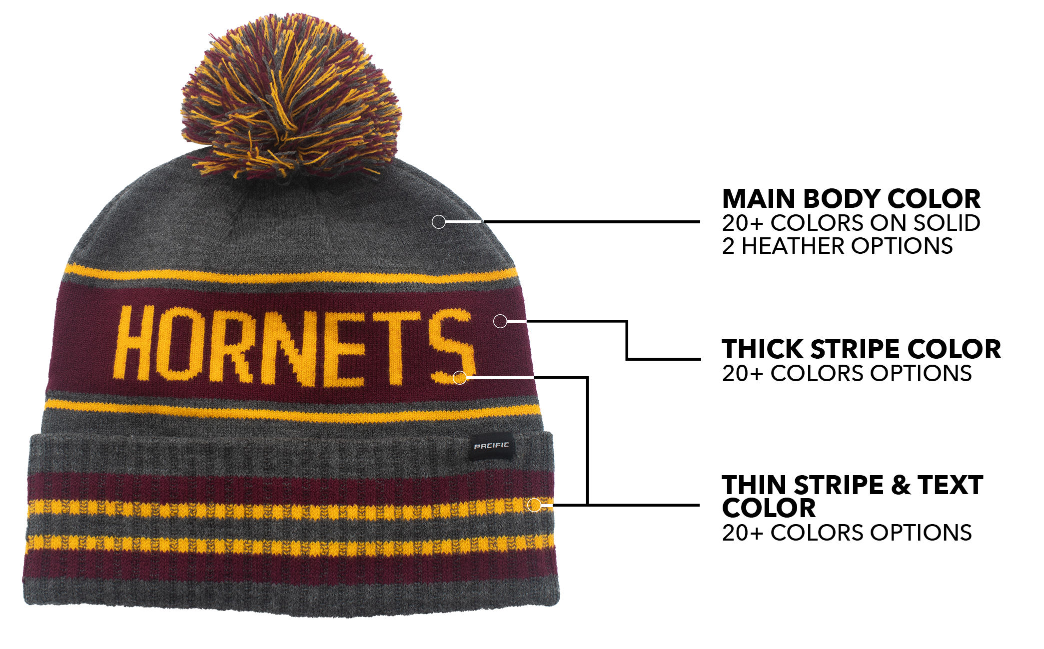 Pick your colors for Custom Direct Beanies