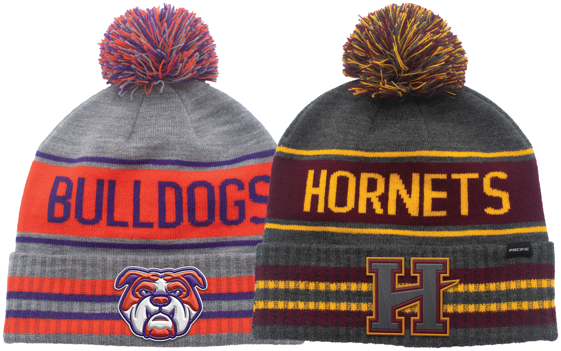 Flat or 3D embroidery options for custom beanies
