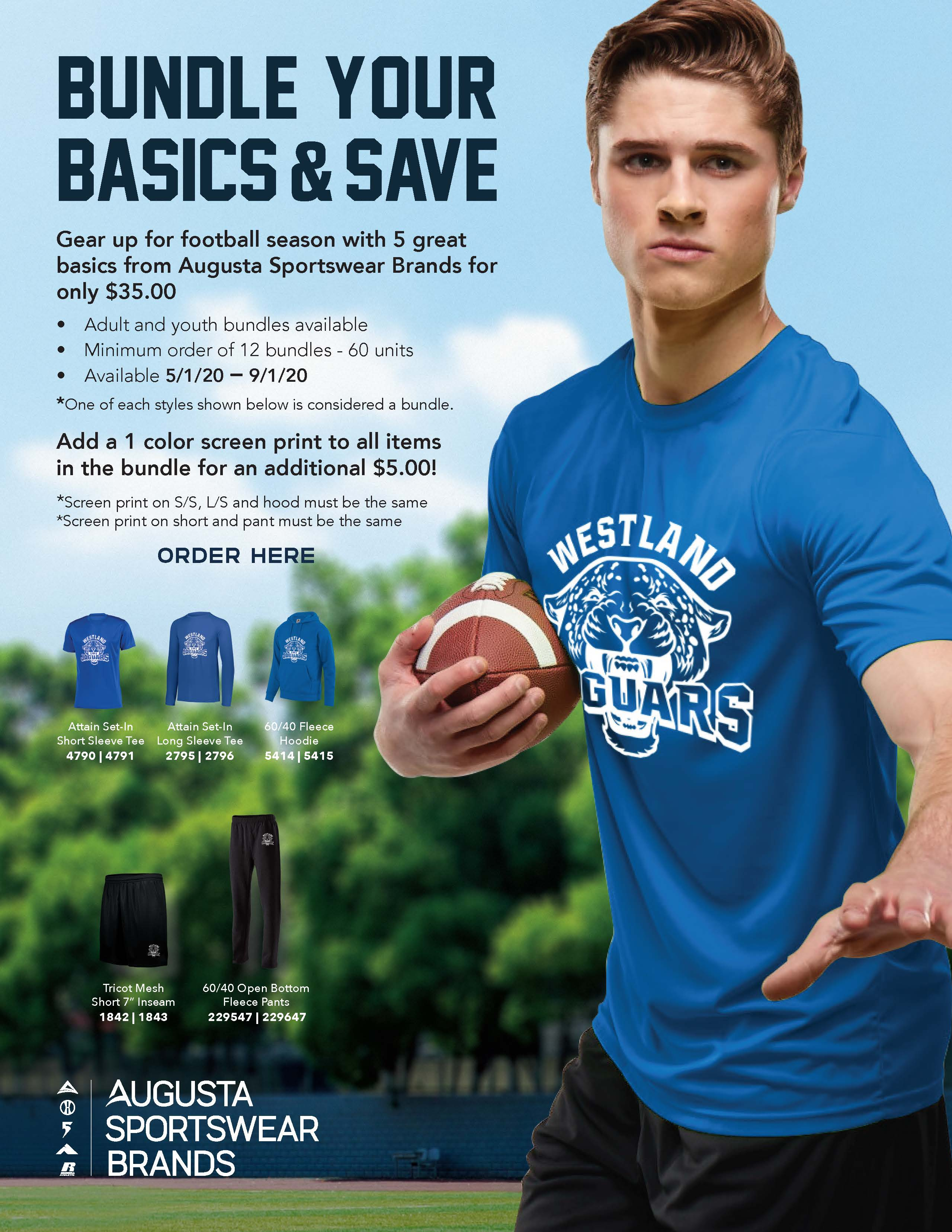 View program flyer for the Football Bundle