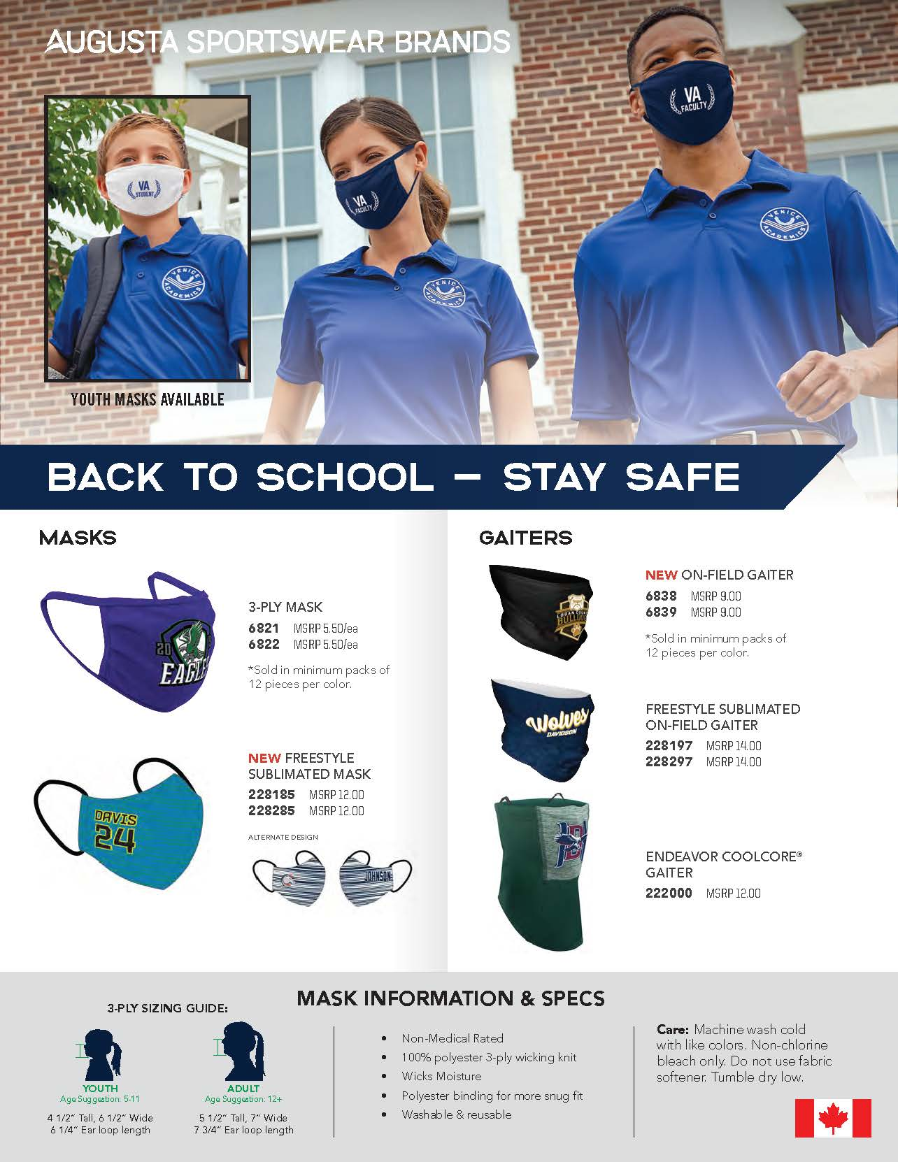 Go back to school safely with our face coverings