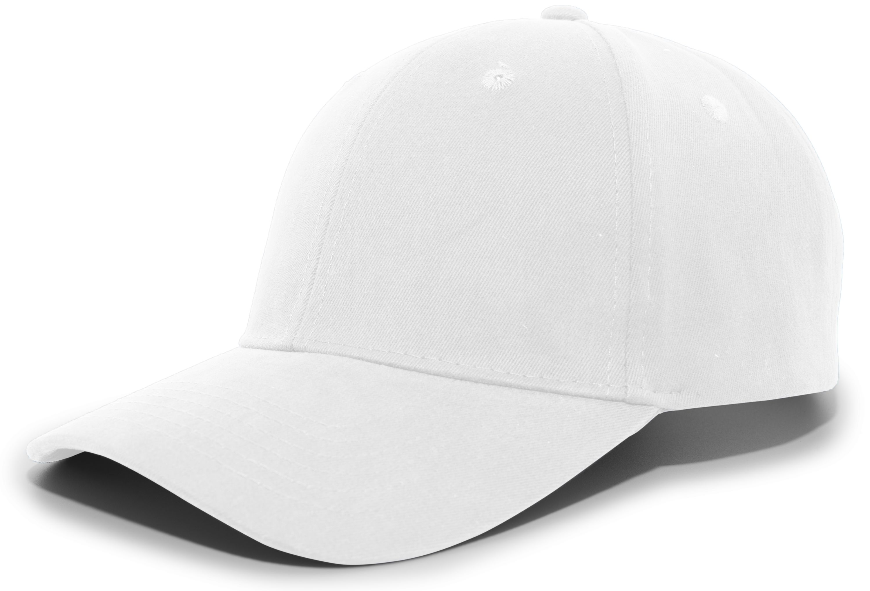 Brushed Cotton Twill Hook-And-Loop Adjustable Cap - WHITE
