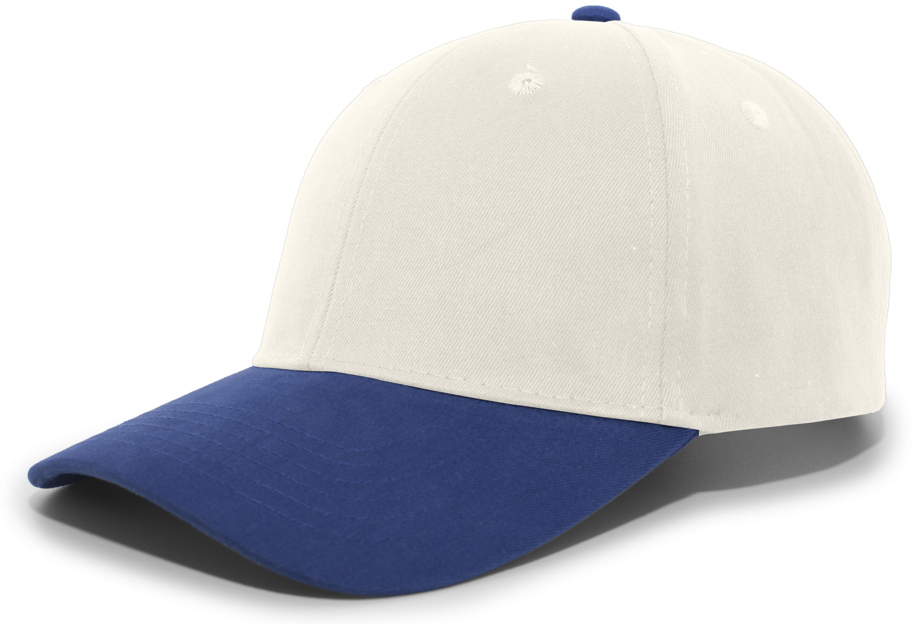Brushed Cotton Twill Hook-And-Loop Adjustable Cap - KHAKI/ROYAL