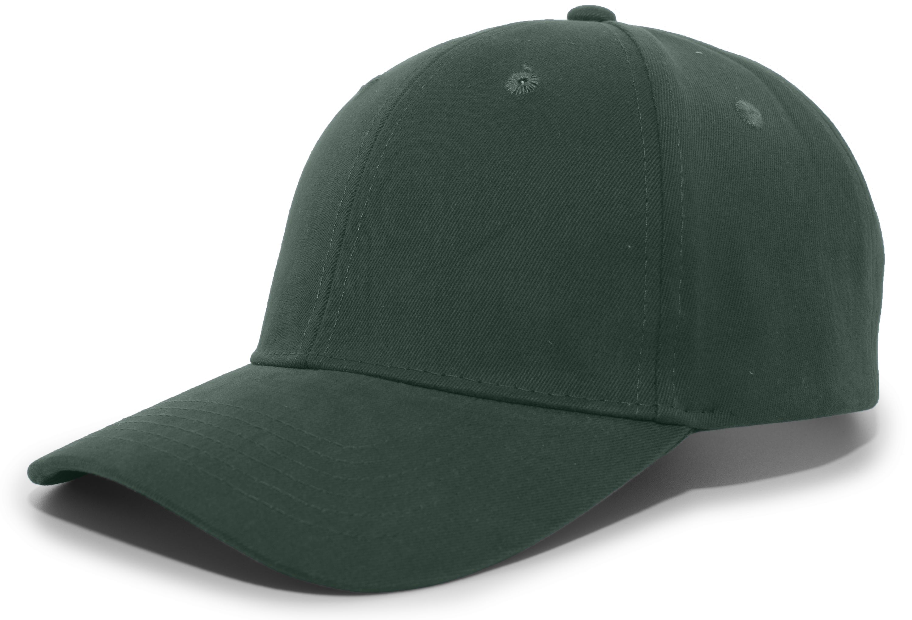 Brushed Cotton Twill Hook-And-Loop Adjustable Cap - HUNTER
