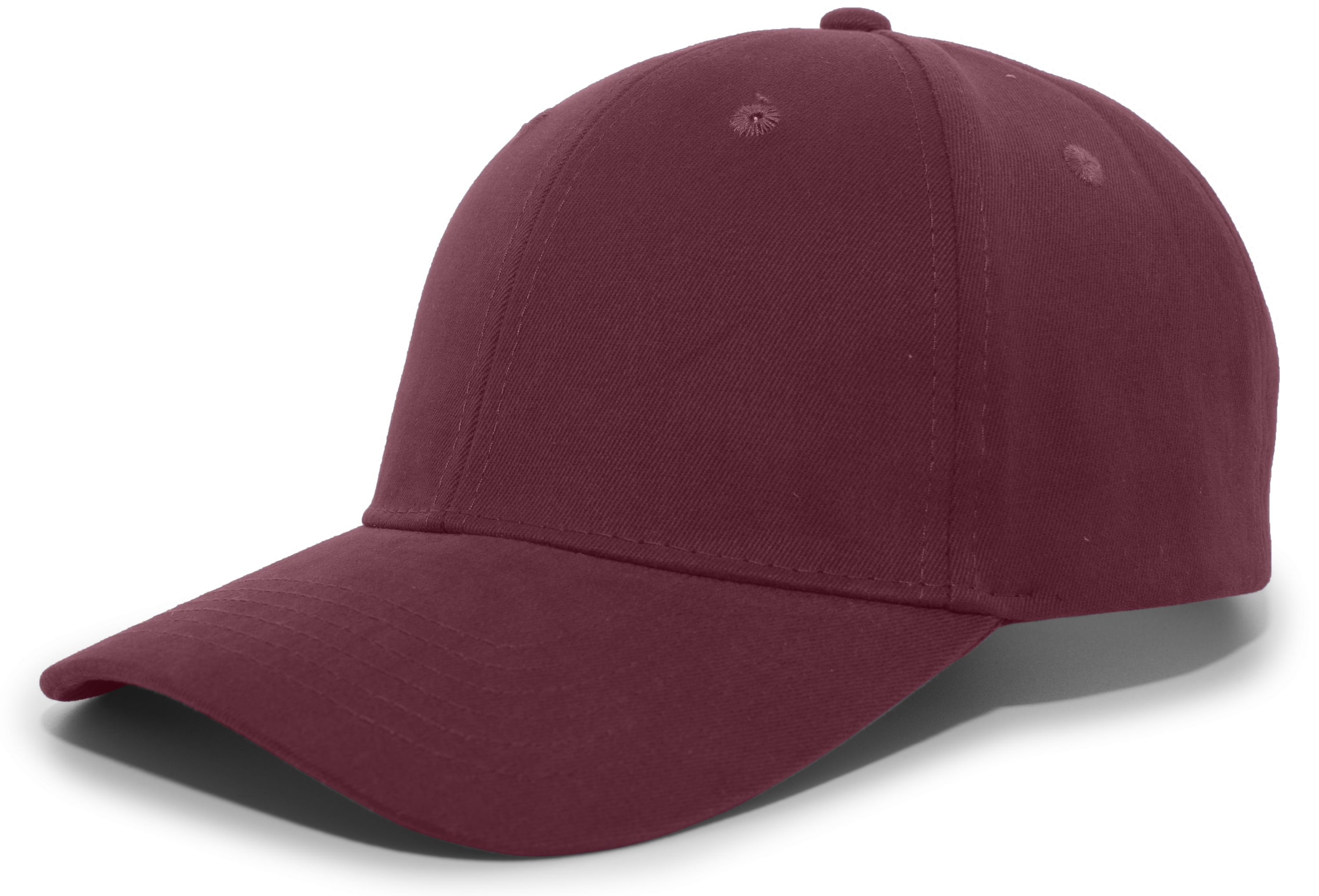 Brushed Cotton Twill Hook-And-Loop Adjustable Cap - MAROON