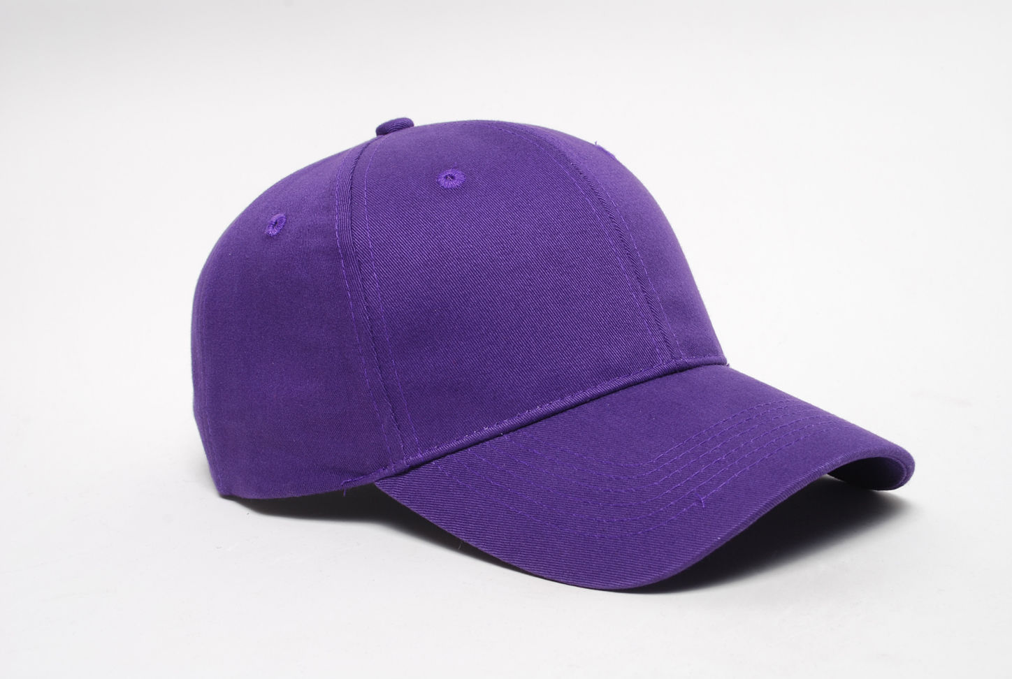 Brushed Cotton Twill Hook-And-Loop Adjustable Cap - PURPLE