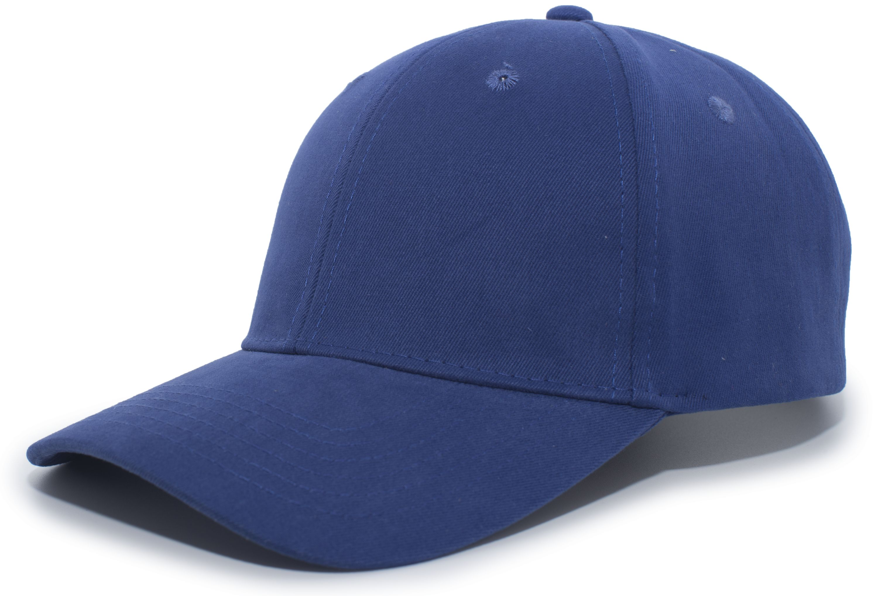 Brushed Cotton Twill Hook-And-Loop Adjustable Cap - ROYAL