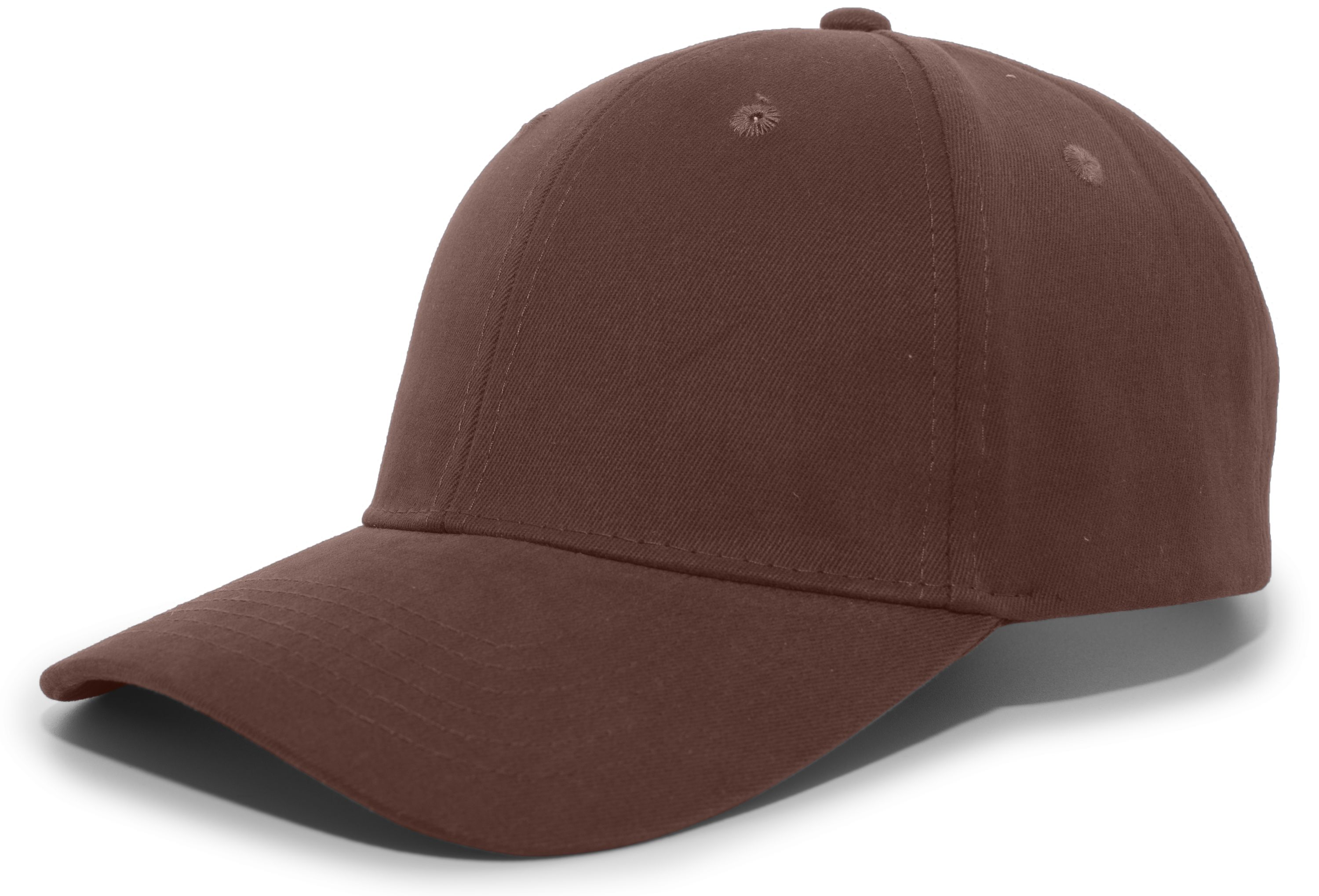 Brushed Cotton Twill Hook-And-Loop Adjustable Cap - BROWN