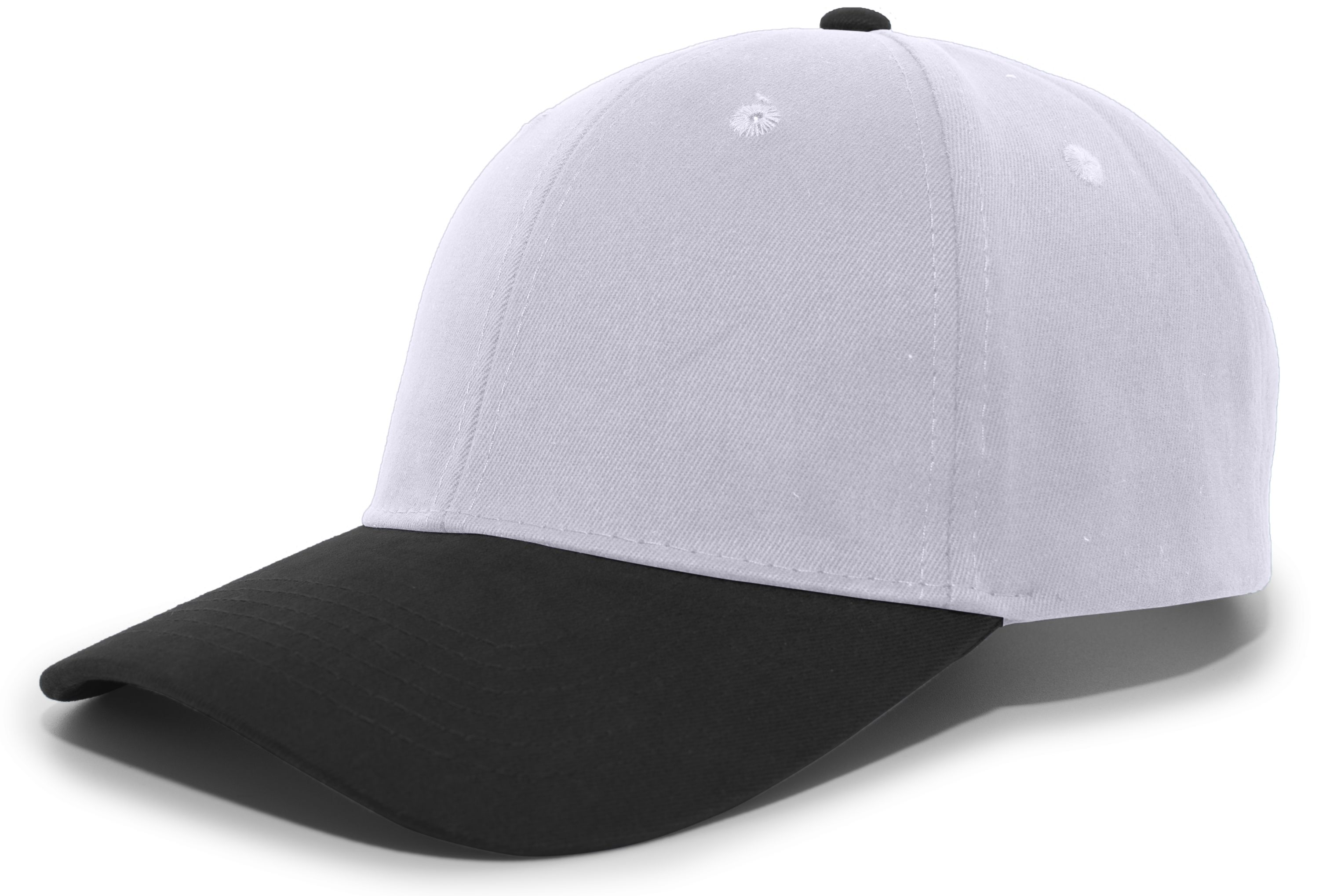 Brushed Cotton Twill Hook-And-Loop Adjustable Cap - SILVER/BLACK