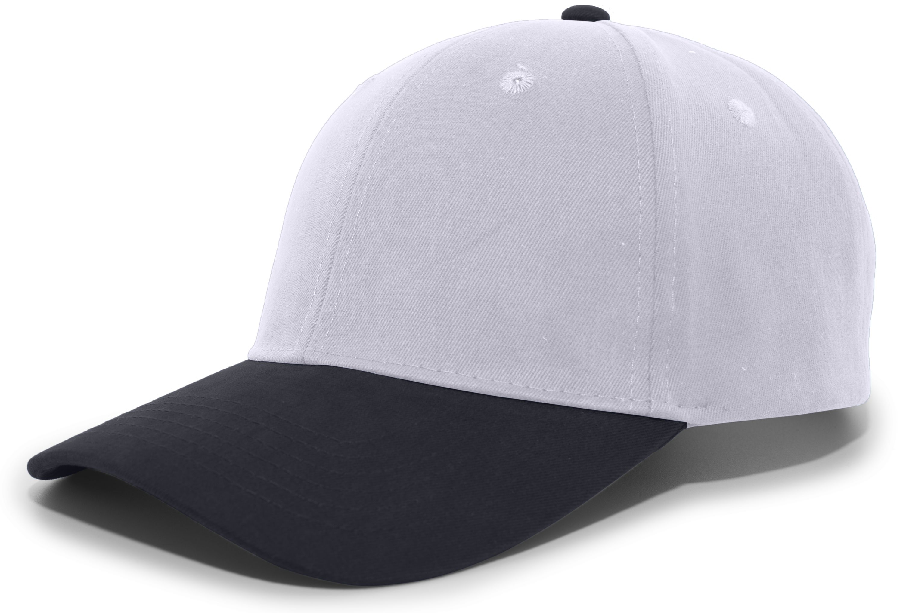Brushed Cotton Twill Hook-And-Loop Adjustable Cap - SILVER/NAVY