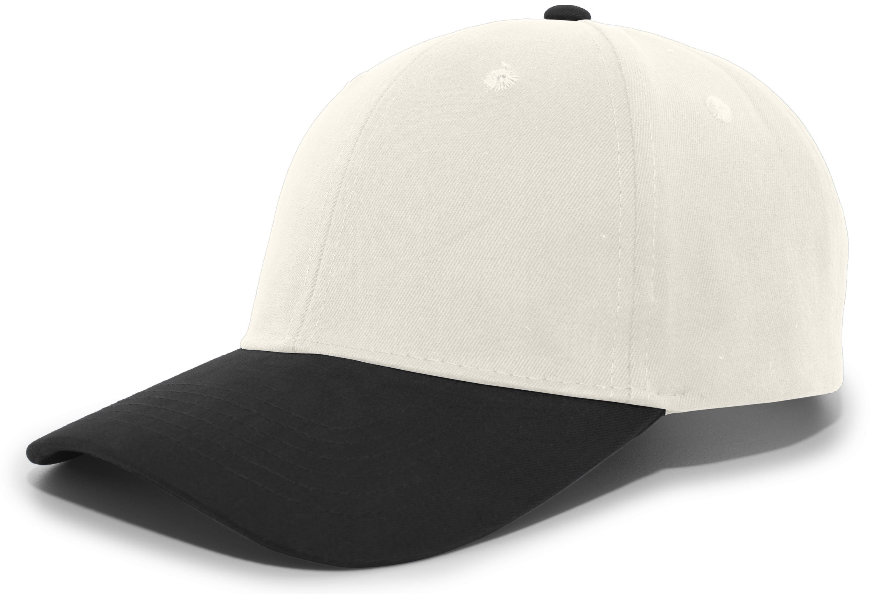 Brushed Cotton Twill Hook-And-Loop Adjustable Cap - KHAKI/BLACK
