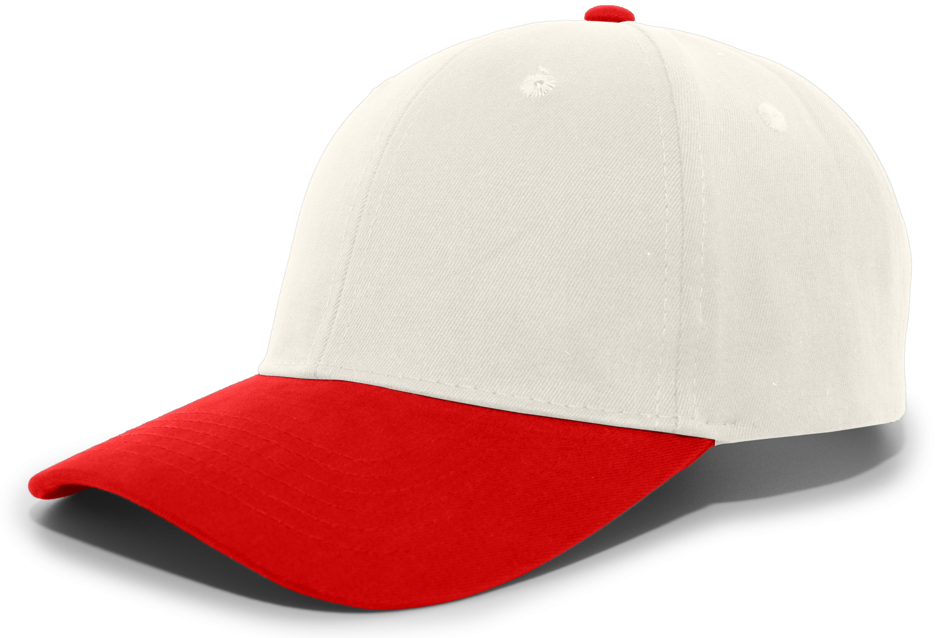 Brushed Cotton Twill Hook-And-Loop Adjustable Cap - KHAKI/RED