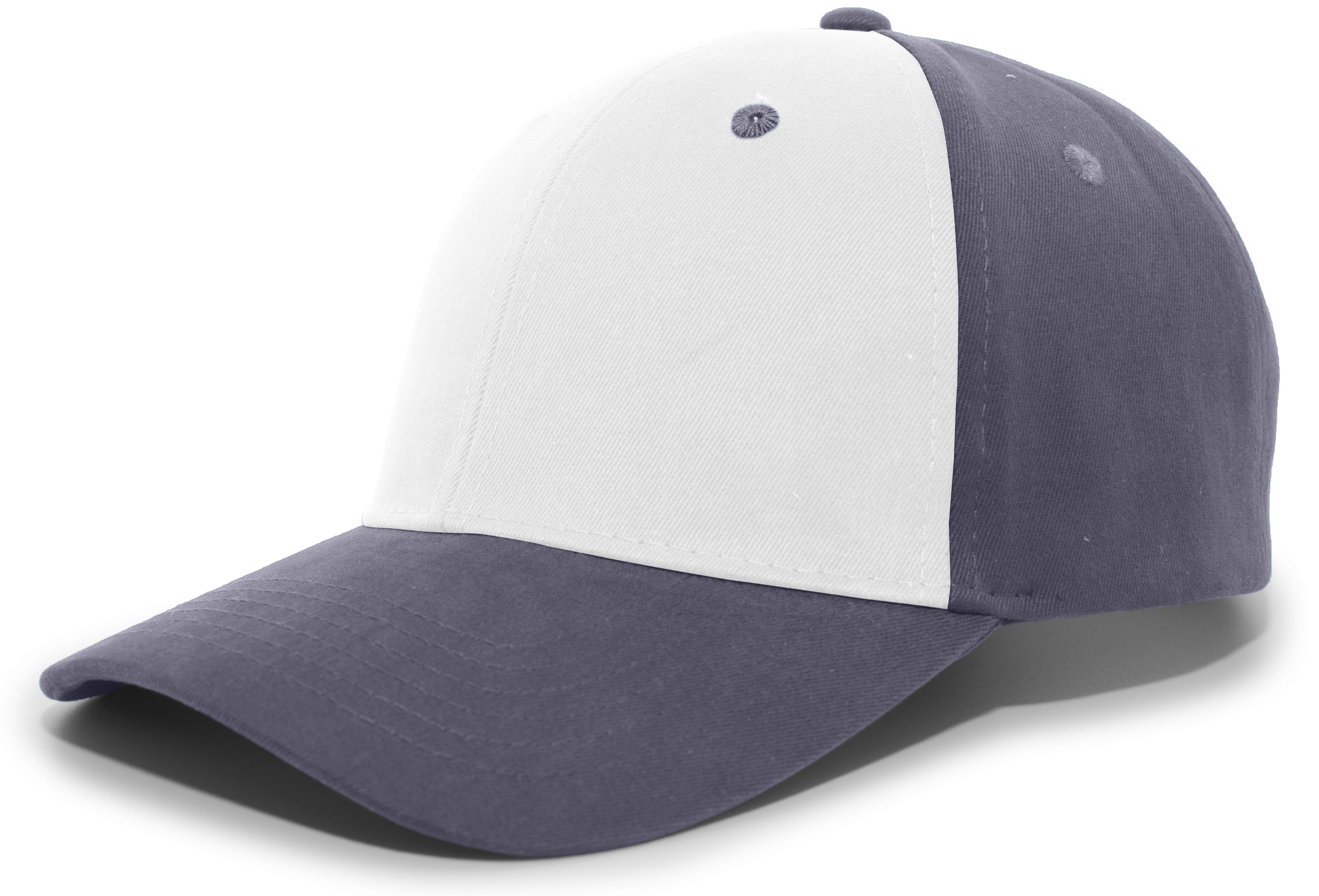 Brushed Cotton Twill Hook-And-Loop Adjustable Cap - WHITE/GRAPHITE/GRAPHITE