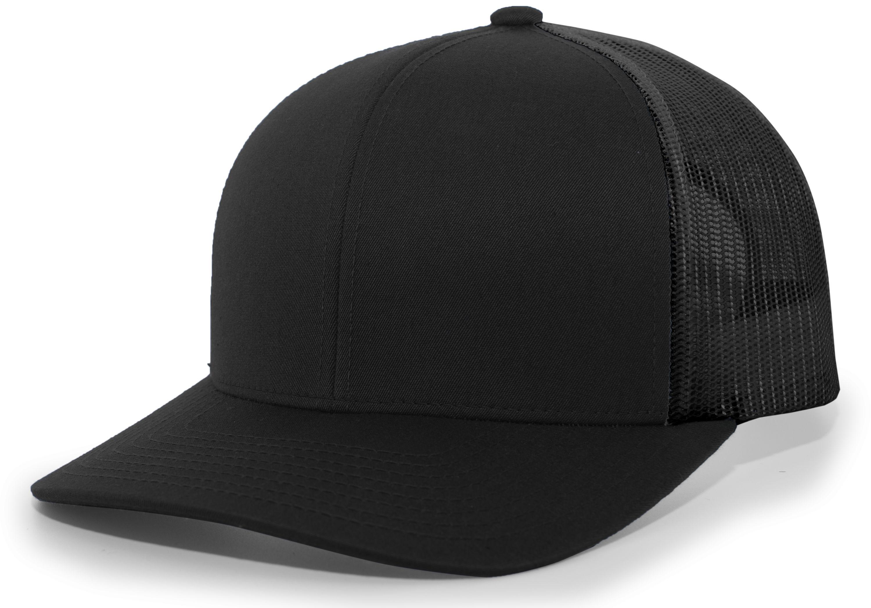 Trucker Snapback Cap - BLACK