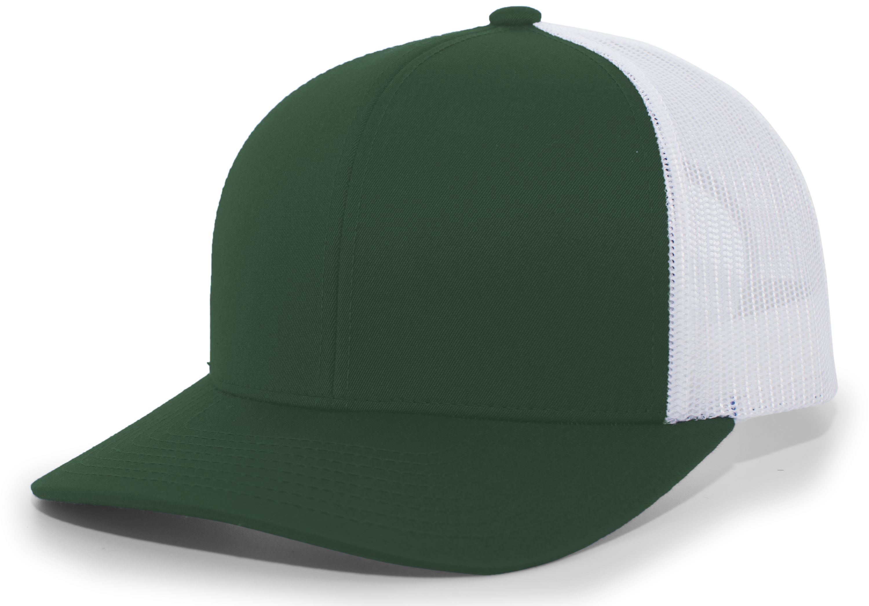 Trucker Snapback Cap - DARK GREEN/WHITE/DARK GREEN