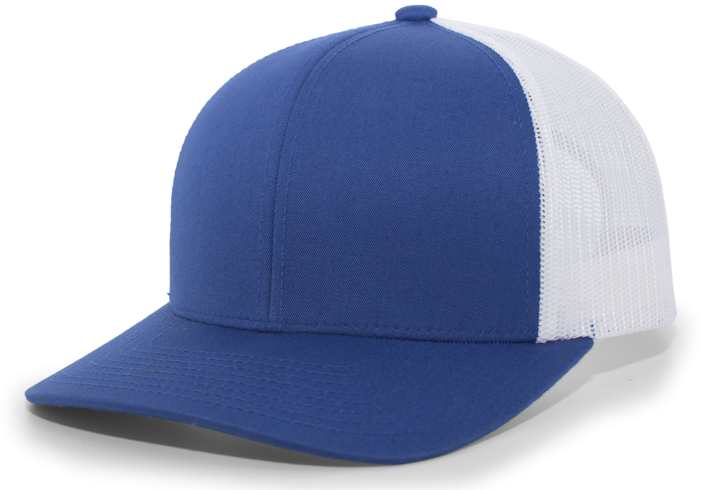 Trucker Snapback Cap - ROYAL/WHITE/ROYAL