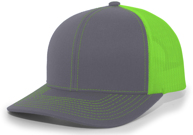 Trucker Snapback Cap - GRAPHITE/NEON GREEN/GRAPHITE
