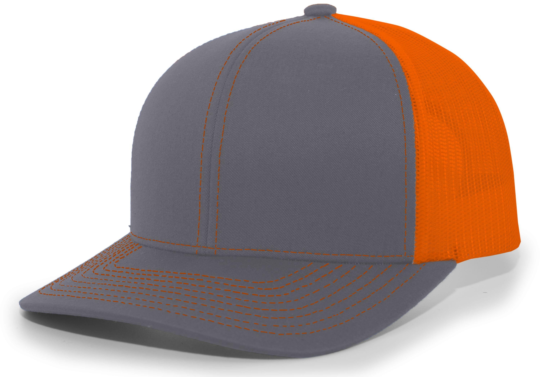 Trucker Snapback Cap - GRAPHITE/NEON ORANGE/GRAPHITE