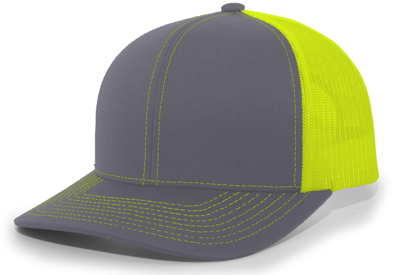 Trucker Snapback Cap - GRAPHITE/NEON YELLOW/GRAPHITE
