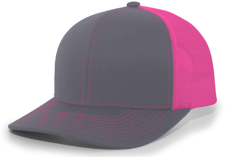 Trucker Snapback Cap - GRAPHITE/PINK/GRAPHITE