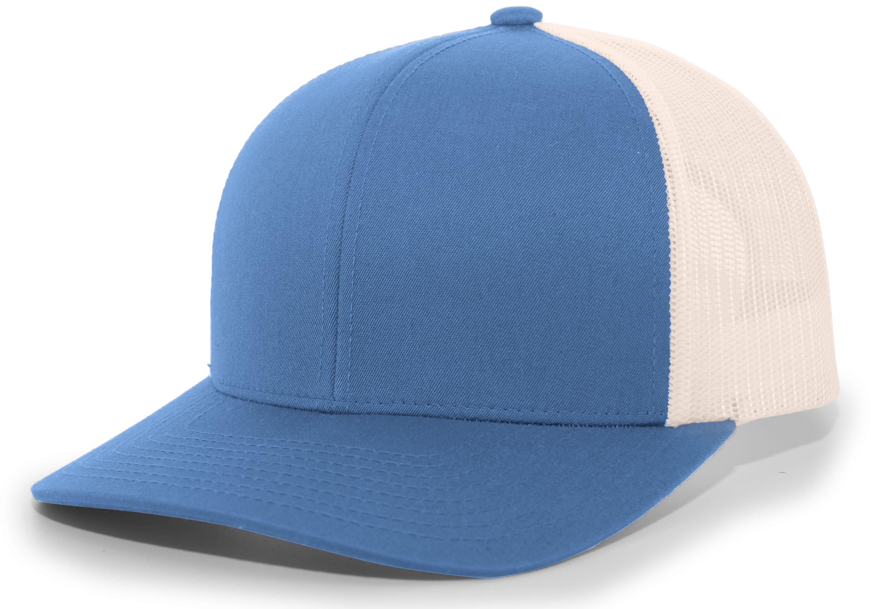 Trucker Snapback Cap - OCEAN BLUE/BEIGE/OCEAN BLUE