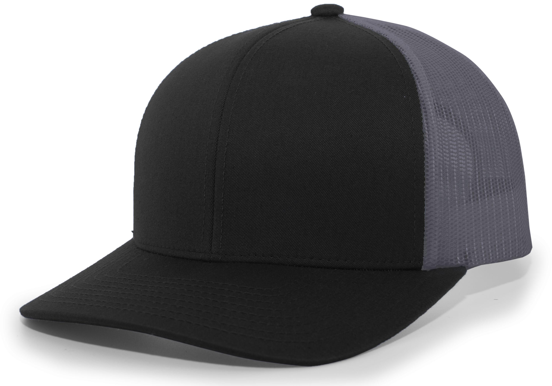 Trucker Snapback Cap - BLACK/GRAPHITE/BLACK