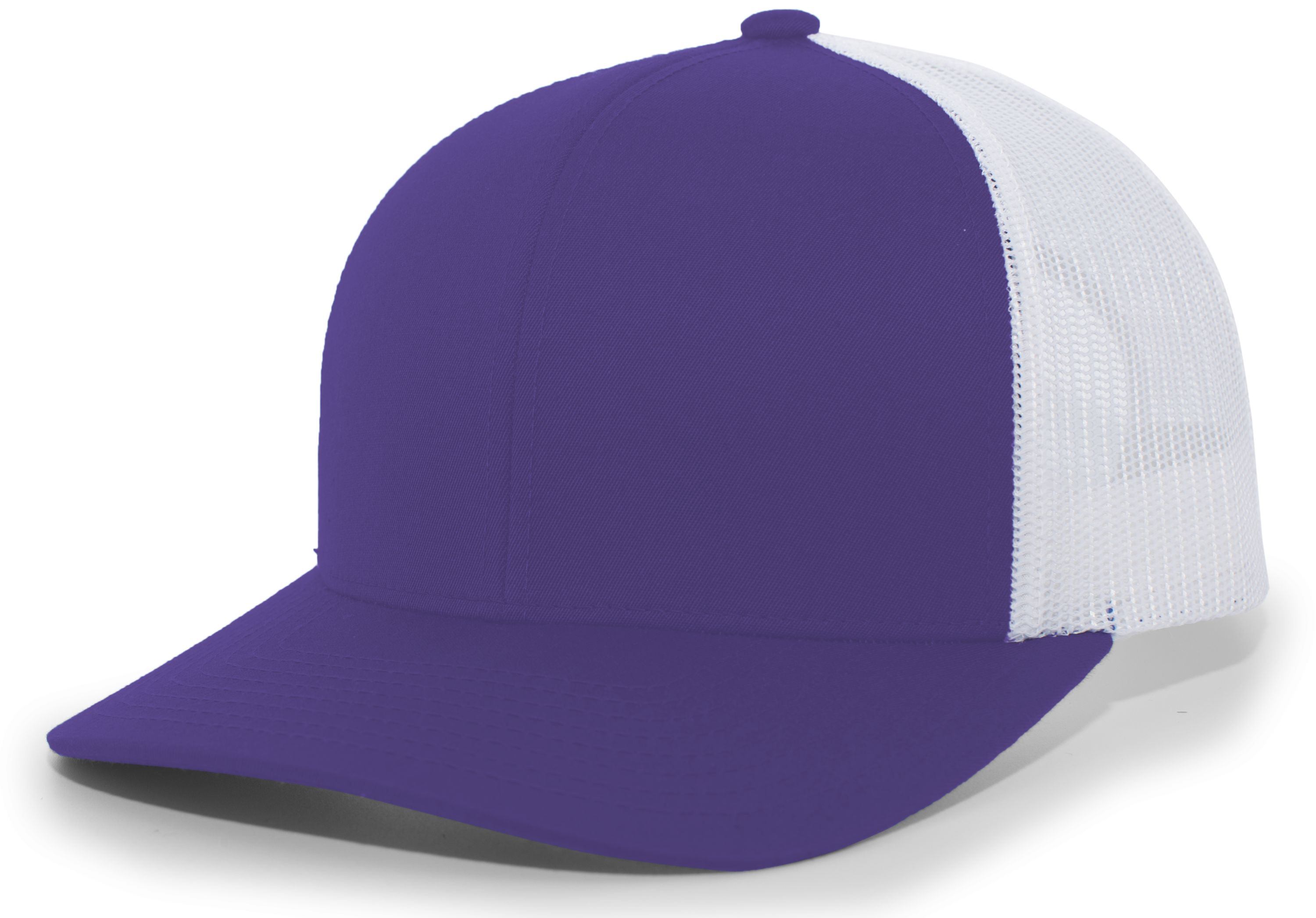 Trucker Snapback Cap - PURPLE/WHITE/PURPLE