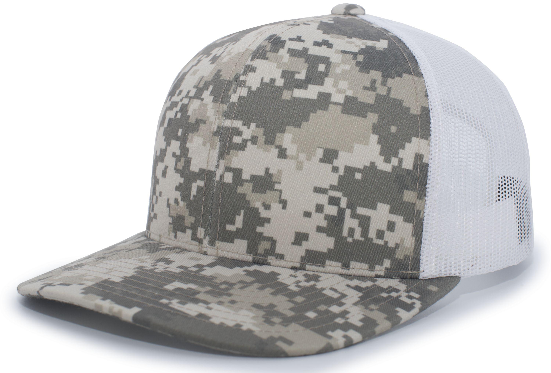 Camo Snapback Trucker Cap - DESERT/WHITE/DESERT
