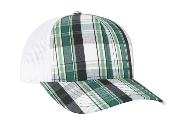 Plaid Snapback Trucker - PLAID DARK GREEN/WHITE/PLAID DARK GREEN