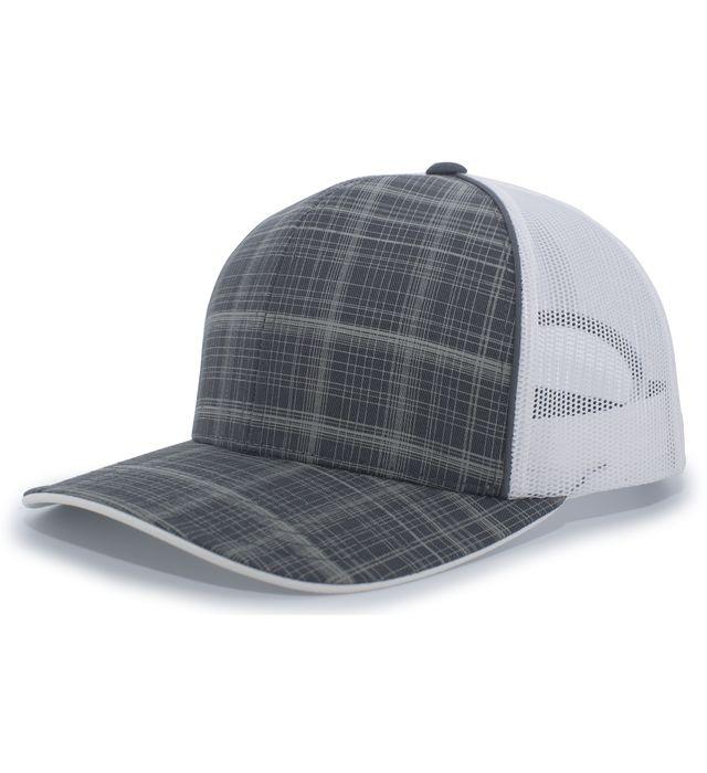 Crosshatch Trucker Snapback Cap