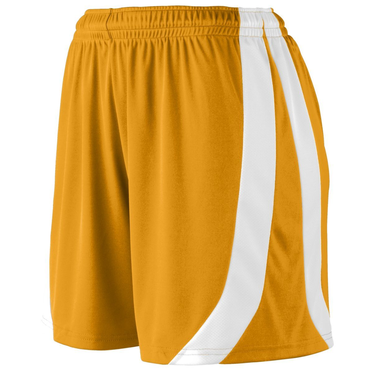 Ladies Triumph Shorts - GOLD/WHITE