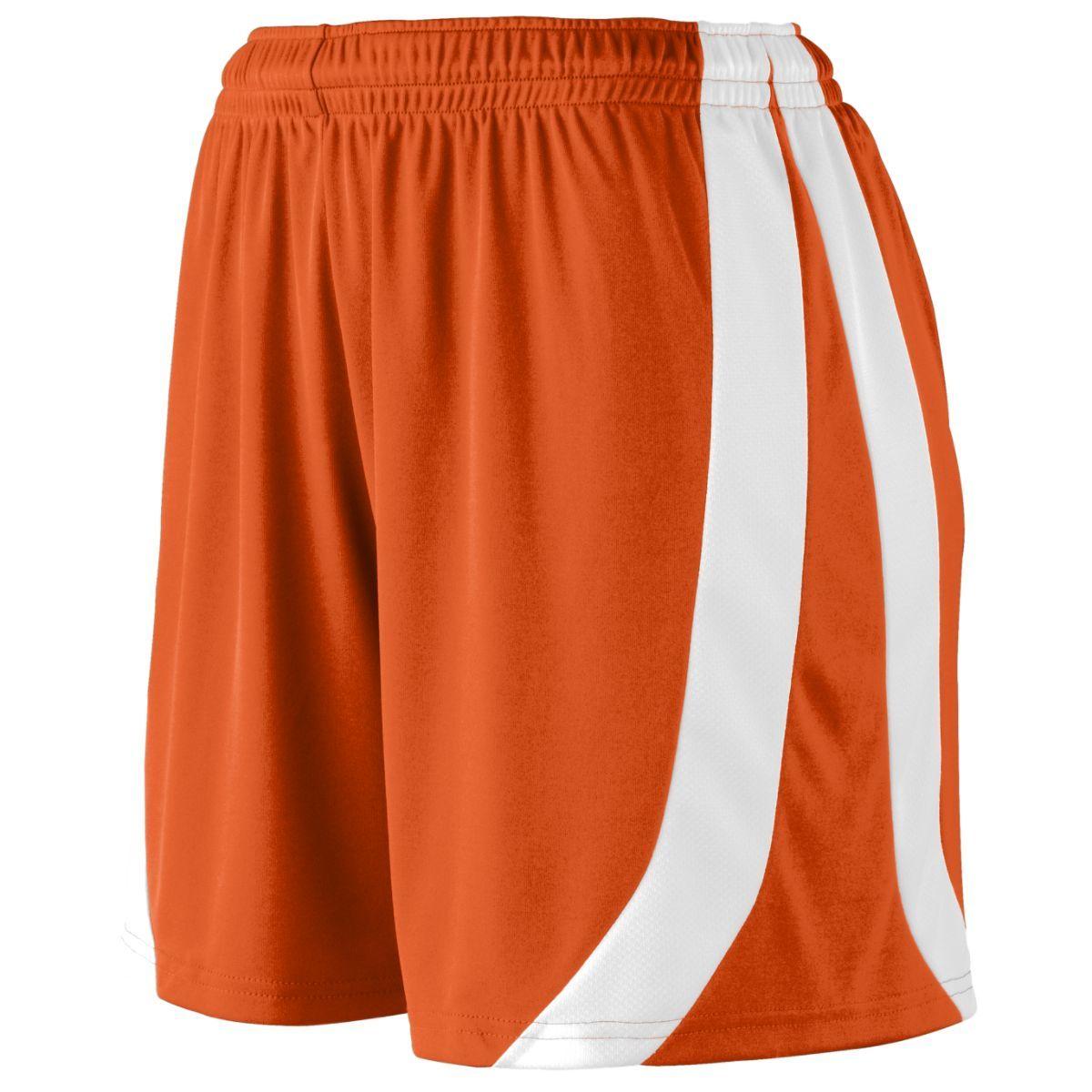 Ladies Triumph Shorts - ORANGE/WHITE