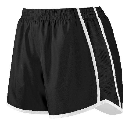 Ladies Pulse Shorts - BLACK/BLACK/WHITE