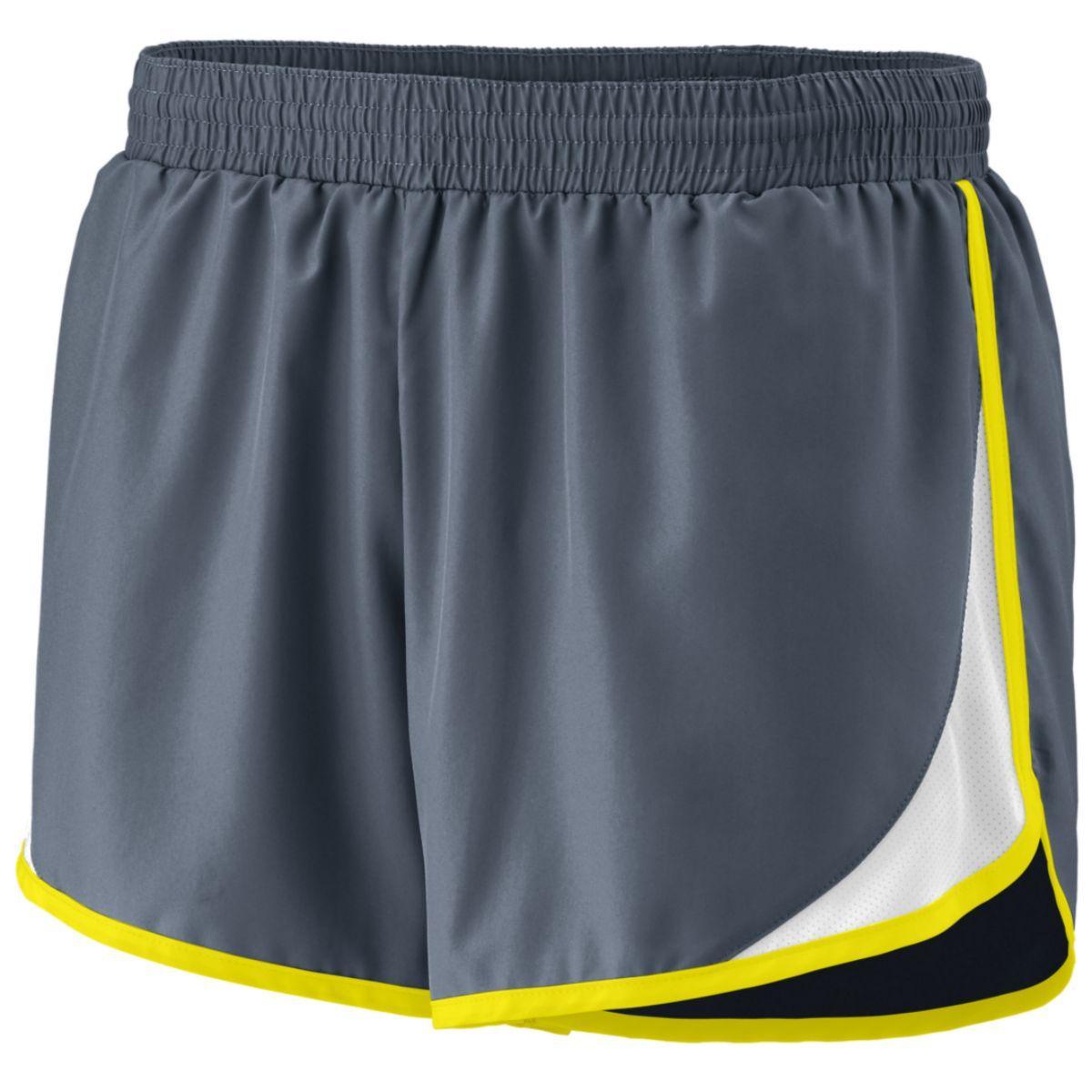 Ladies Adrenaline Shorts - GRAPHITE/WHITE/POWER YELLOW