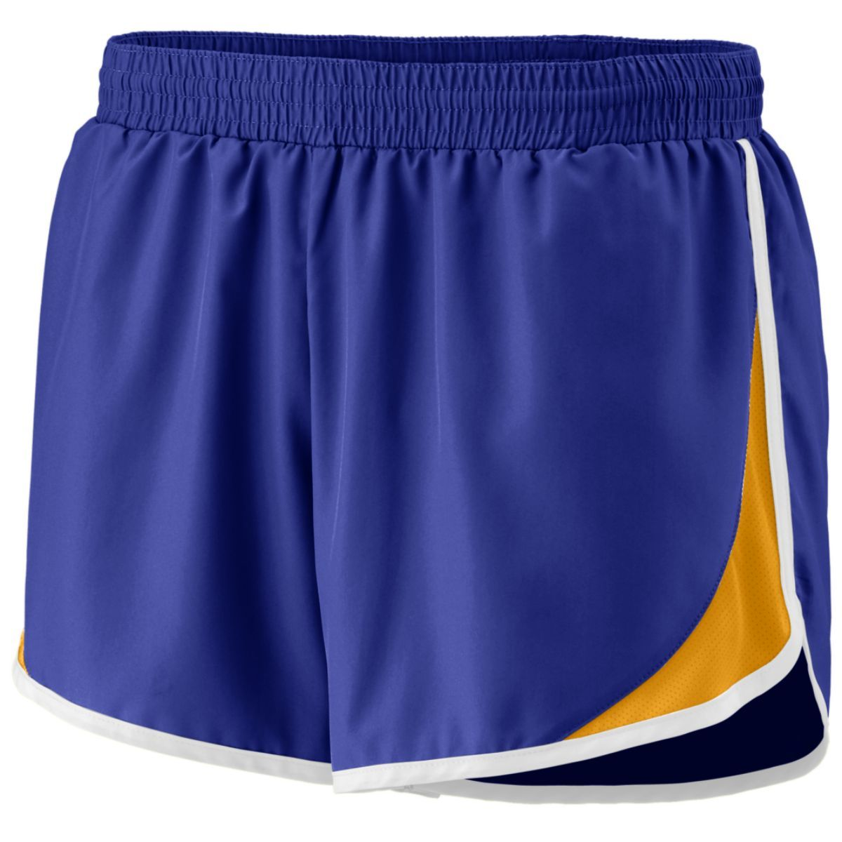 Ladies Adrenaline Shorts - PURPLE/GOLD/WHITE