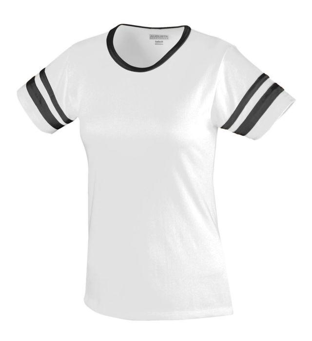 Ladies Junior Fit Cotton/Spandex Camp Tee
