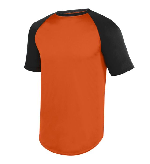 Wicking Short Sleeve Baseball Jersey