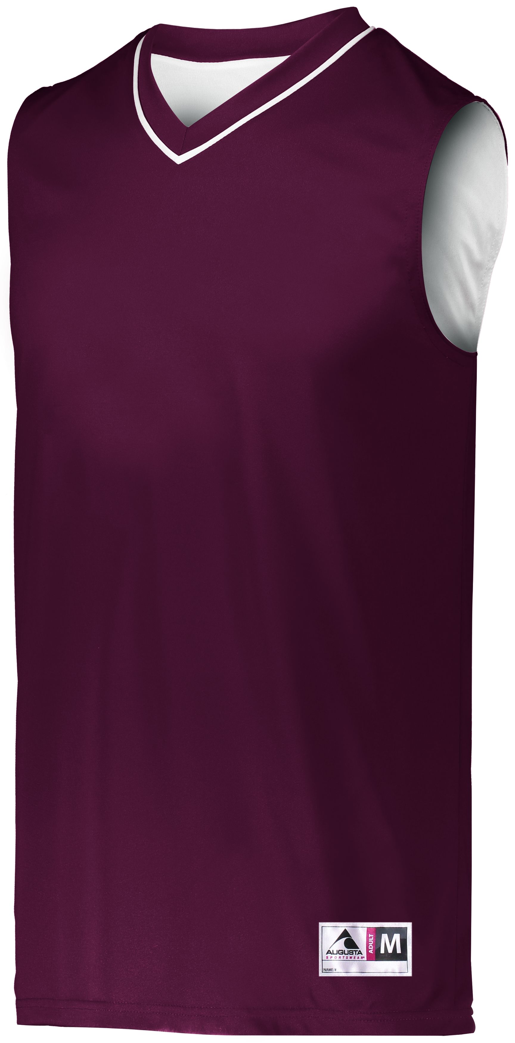 Reversible Two-Color Jersey - MAROON/WHITE