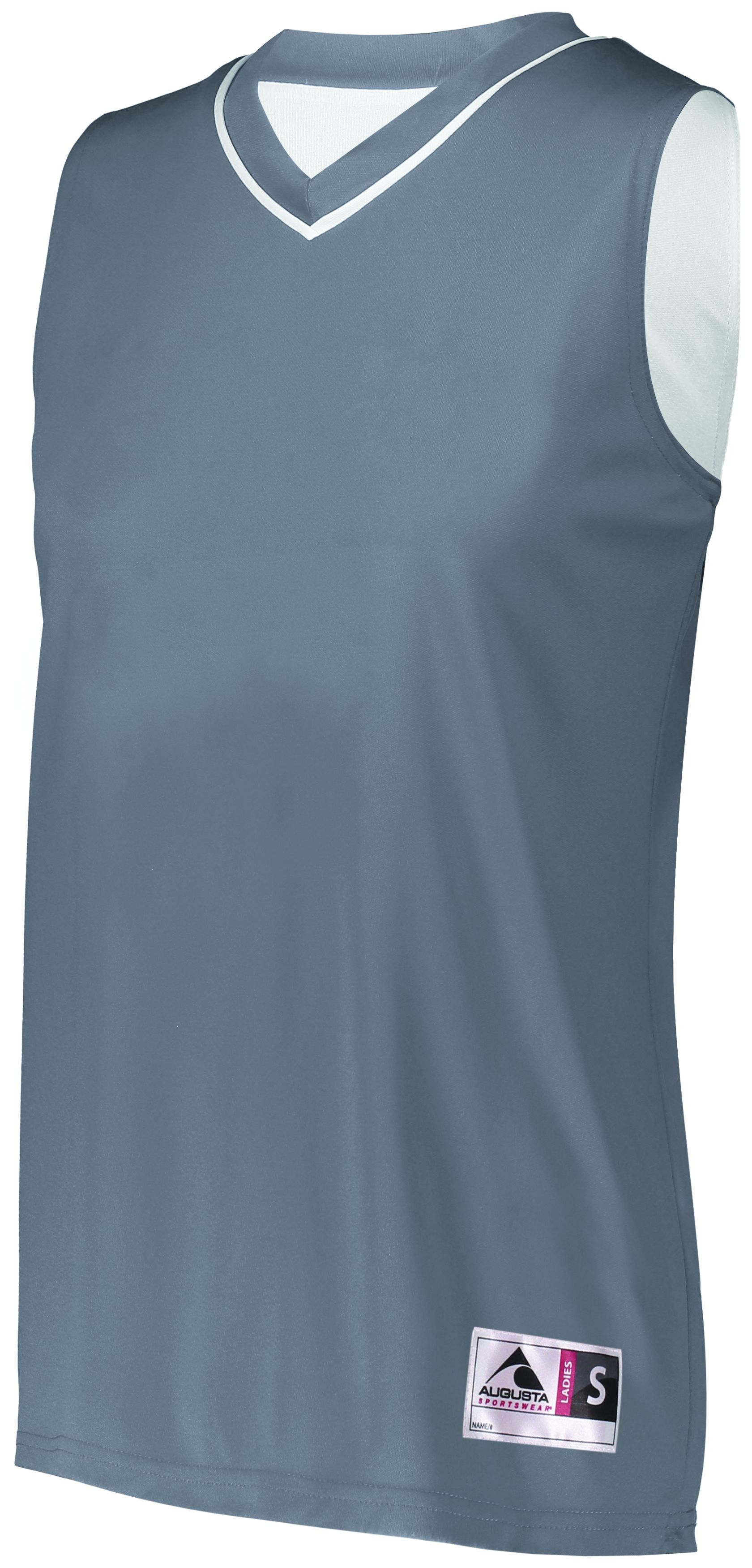 Ladies Reversible Two-Color Jersey - GRAPHITE/WHITE