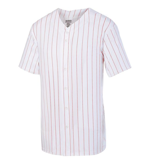 Youth Pinstripe Full-Button Jersey